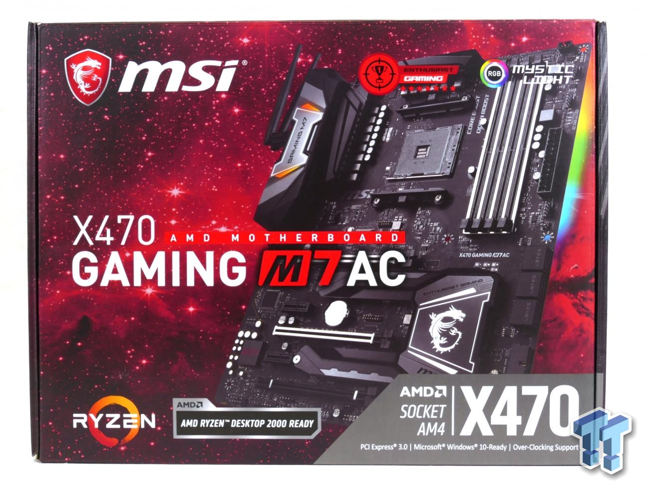 MSI X470 Gaming M7 AC (AMD X470) Motherboard Review