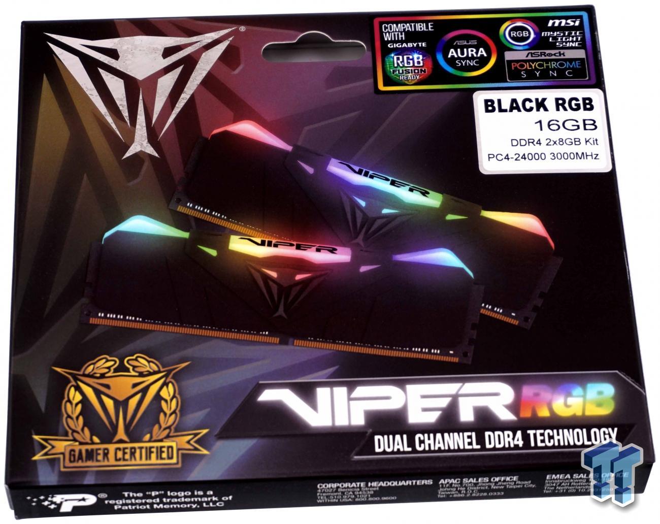 Patriot Viper RGB DDR4-3000 16GB Memory Kit Review