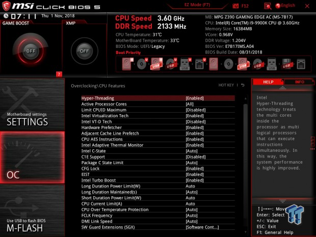 MSI Z390 Gaming Edge AC (Intel Z390) Motherboard Review