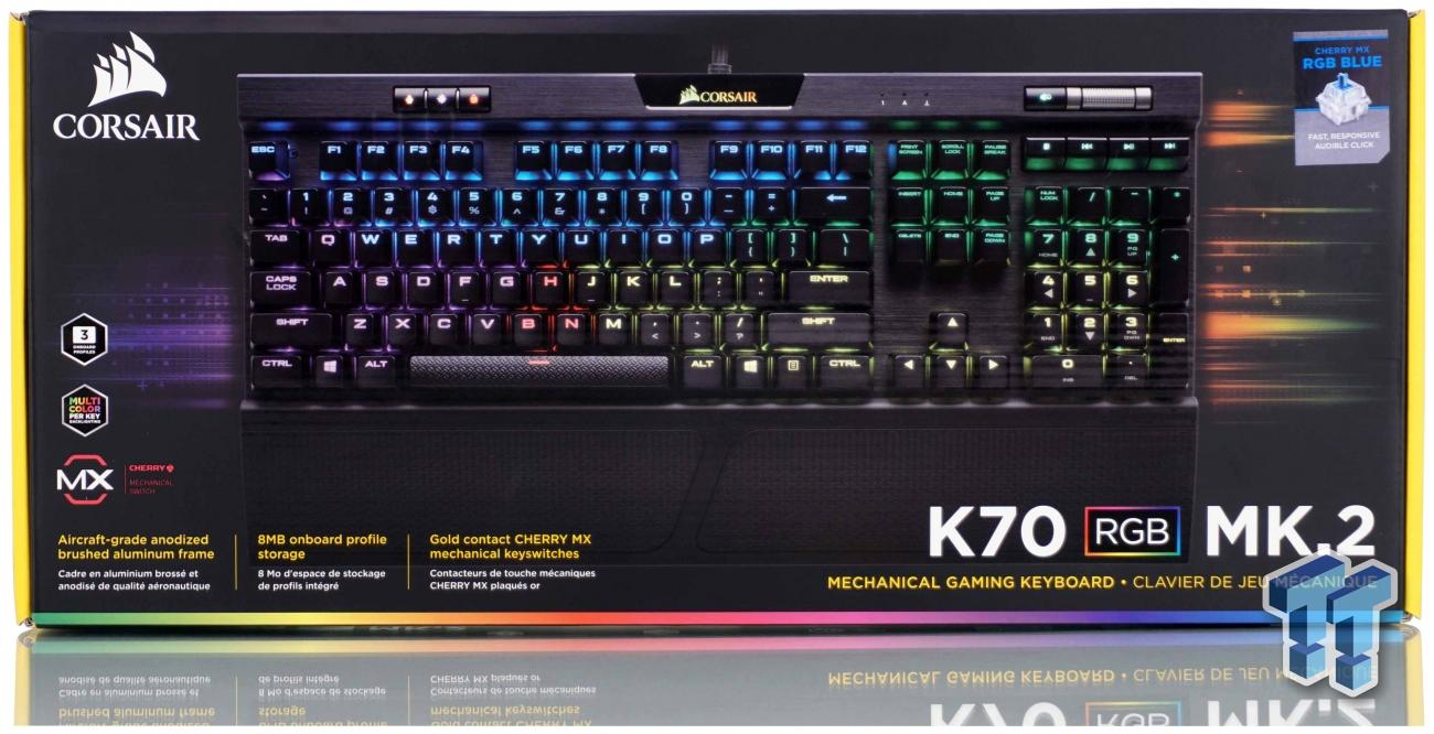 Corsair K70 RGB MK.2 Mechanical Gaming Keyboard Review