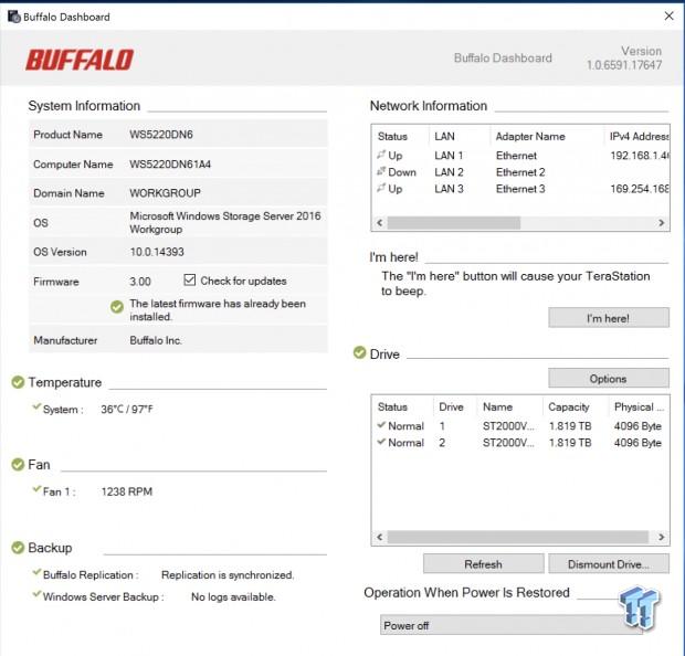 Buffalo Terastation WS5220 Network Storage Review