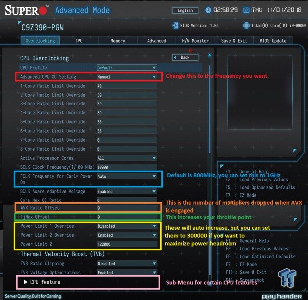 Supermicro Z390 9th Gen OC Guide