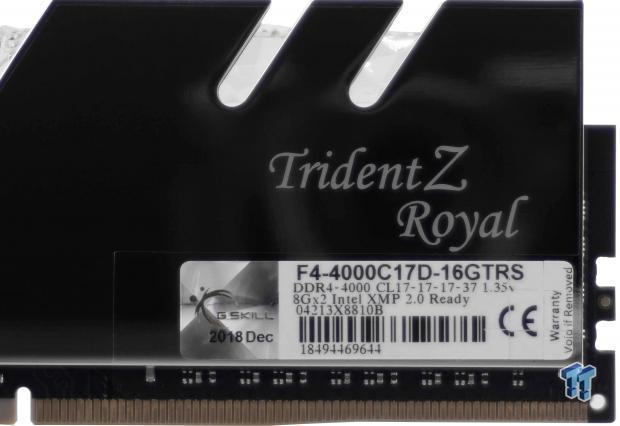 G Skill TridentZ Royal 4000MHz 32GB Memory Kit Review