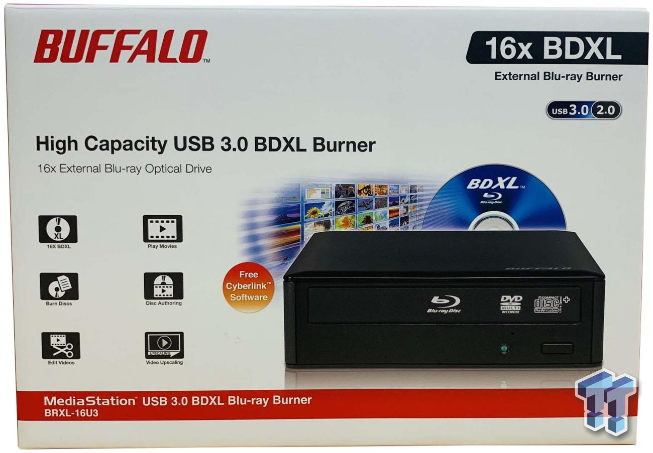 Buffalo MediaStation 6x Portable BDXL Blu-Ray Writer with M-DISC Support