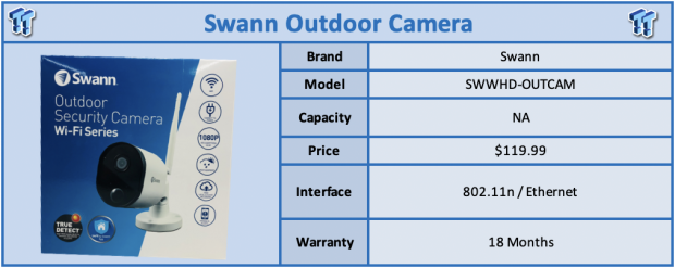 Swann Wi-Fi Series Outdoor Camera Review
