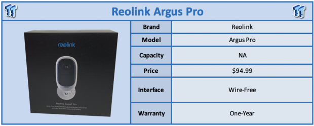 Reolink Argus Pro Wire-Free Camera Review