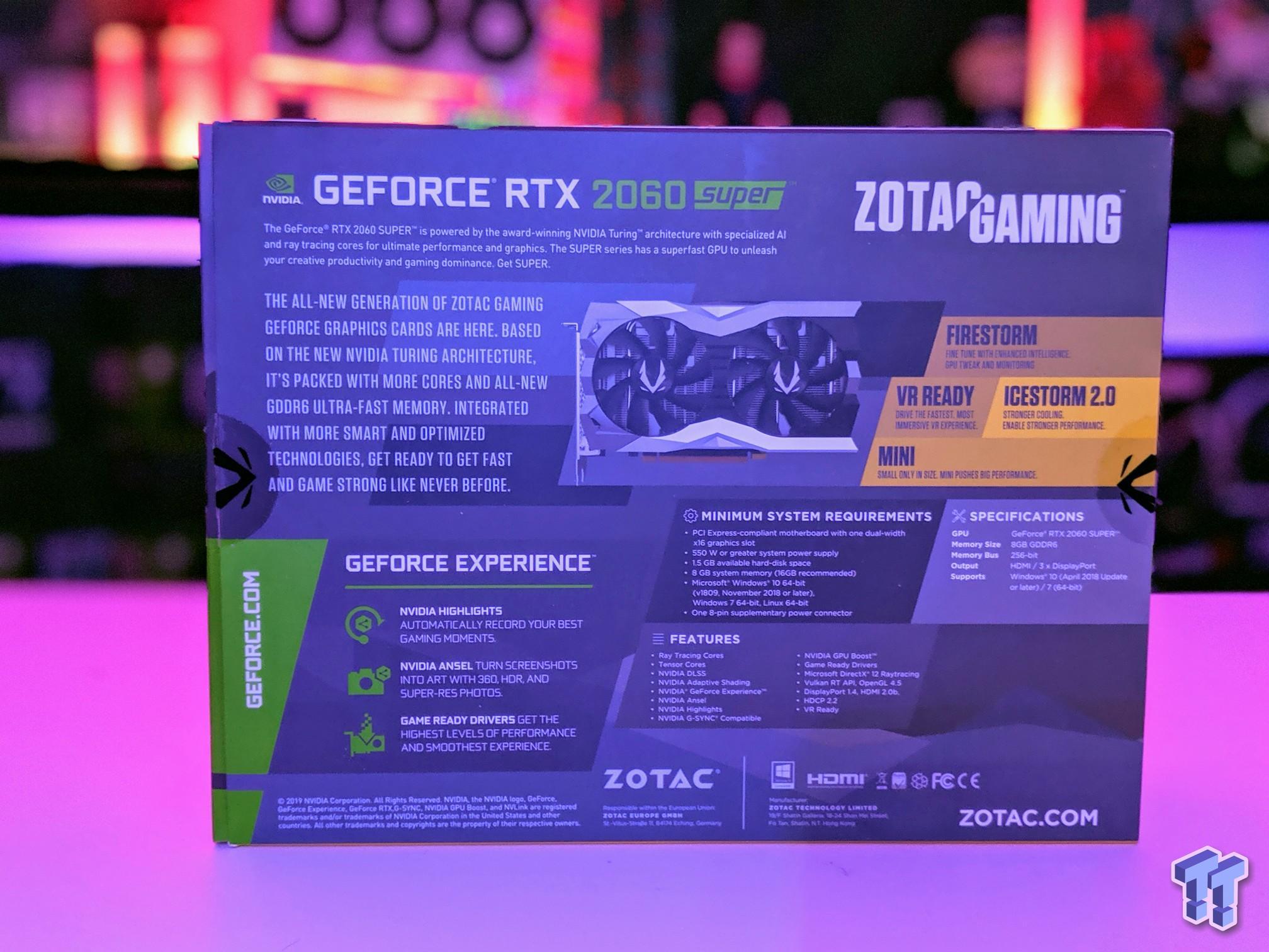 ZOTAC GeForce RTX 2060 SUPER MINI: Small, Yet Crazy Powerful
