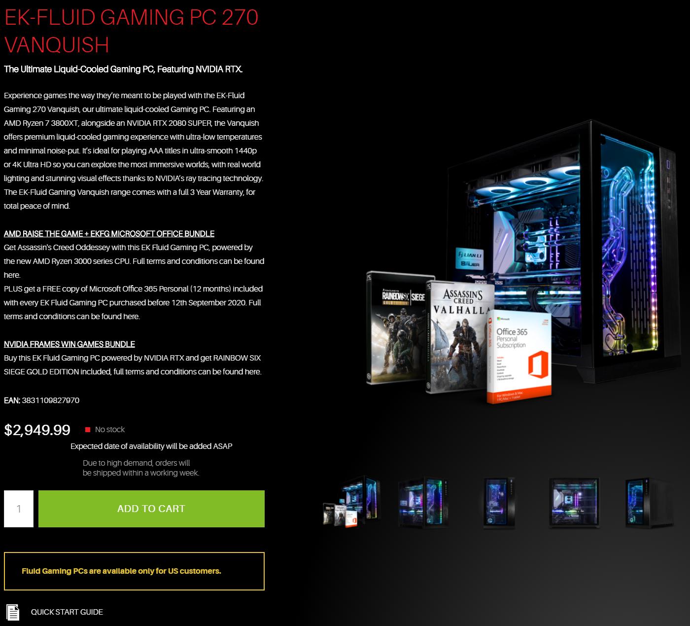 EK Fluid Gaming Vanquish 275-AG Liquid-Cooled Gaming PC Review 01 | TweakTown.com