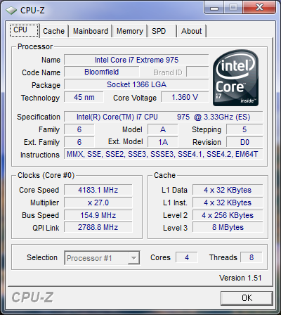 Intel Core i7 975 3.33GHz Processor Tested