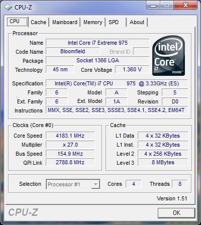 Intel Core i7 975 3.33GHz Processor Tested