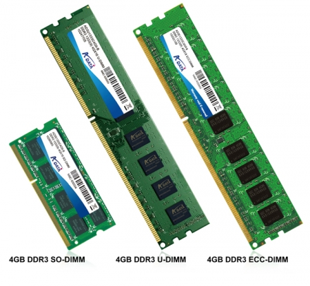 A-DATA Extends Entire DDR3 Lineup with 4GB modules