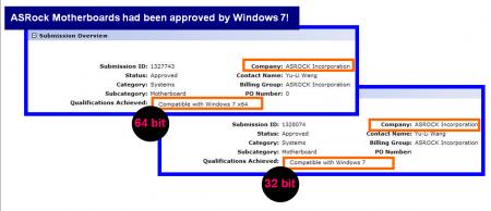 ASRock mainboards are Windows 7 Ready