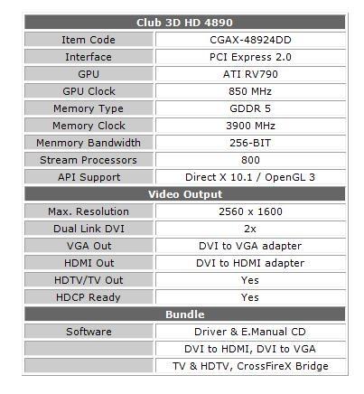 Club3D Launches Radeon HD 4890