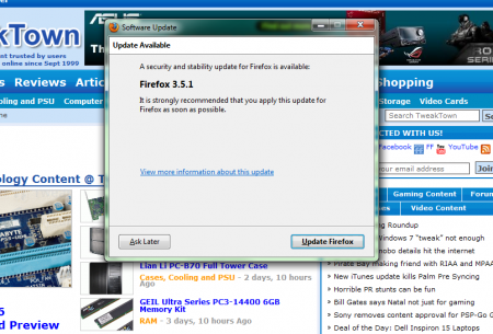 FireFox 3.5.1 fixes JIT Flaw