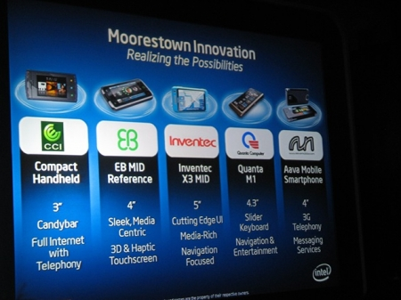Five new Moorestown devices announced at Computex