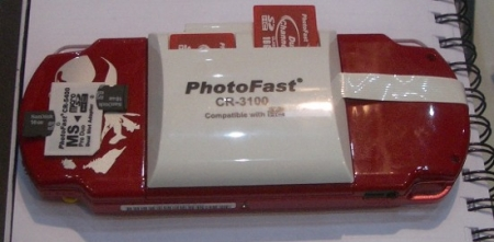 Photofast shows of SDCard RAID and PSP toys