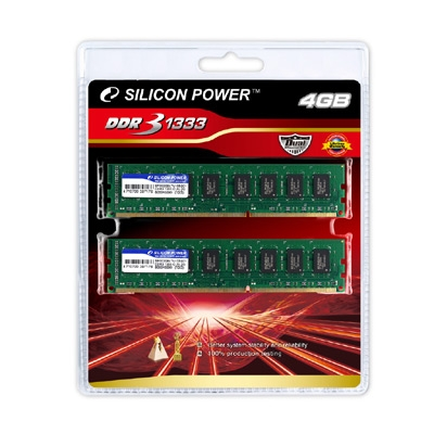 SILICON POWER releases dual channel DDR3 1333/1066 Kit