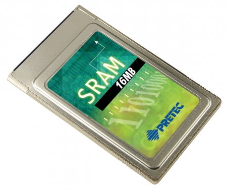 Pretec Extends Dual-battery SRAM PC Card to 16MB
