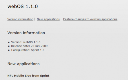 WebOS 1.1 fixes iTunes 8.2.1 blockade