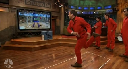 Jimmy Fallon plays around with MS Project Natal