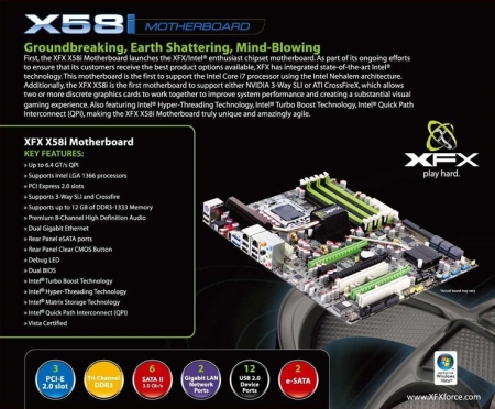 XFX Launches its X58i Mainboard