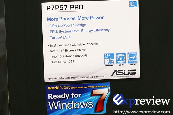 ASUS Shows Off P57 Based Motherboard