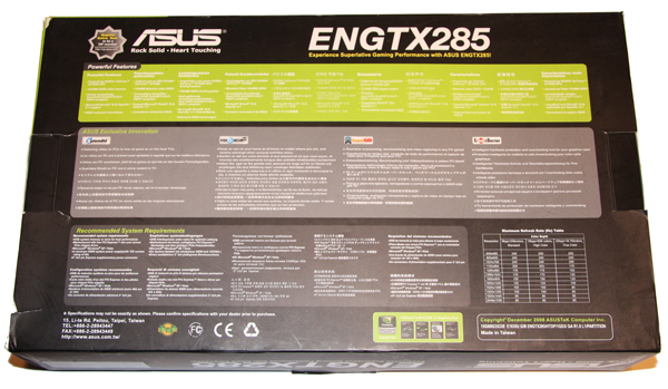 ASUS GTX 285 1GB Graphics Card