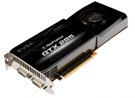 EVGA Launches GTX 285 Mac Edition
