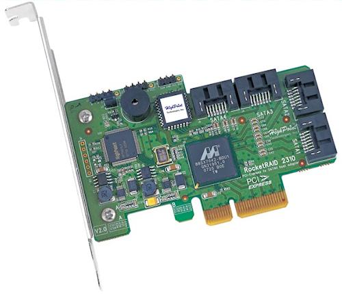 HighPoint RocketRAID 2310 PCI-E x4 SATA RAID Controller