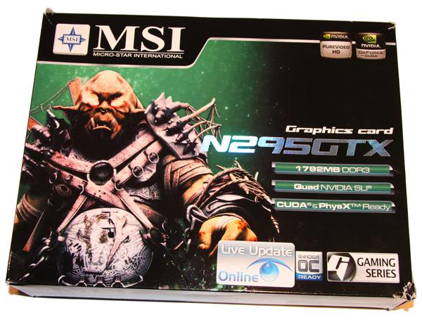 MSI GTX 295 Graphics Card
