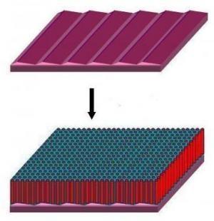 Nanoscale Elements Aligned On Sapphire Crystal
