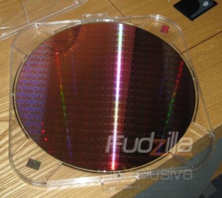 Intel Nehalem wafer exposed on camera