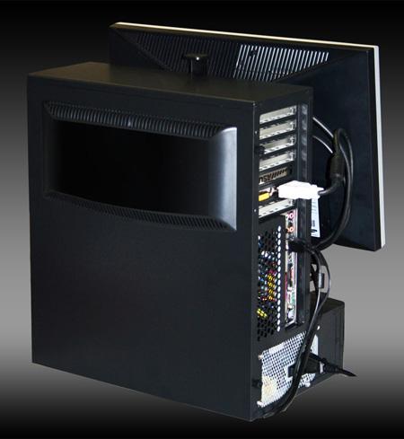 CHIEFTEC design L-type case with LCD VESA mount