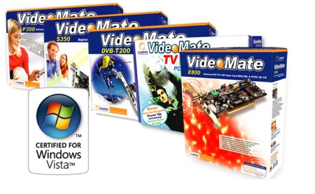 Compro VideoMate M X P T S Series Certified For Windows Vista