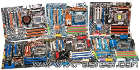 Intel X58 motherboard photo shoot