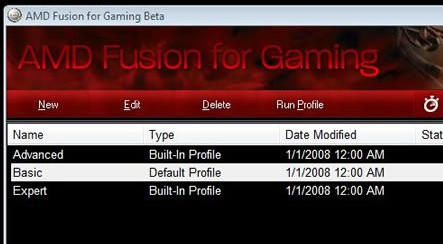 AMD Fusion Gaming Utility