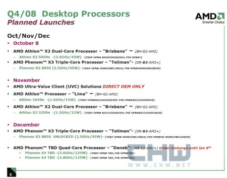 AMD Roadmap Q4 2008