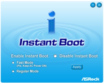 ASRock promotes 'Instant Boot' feature