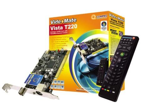 Compro Announces VideoMate Vista T220 Tuner Card