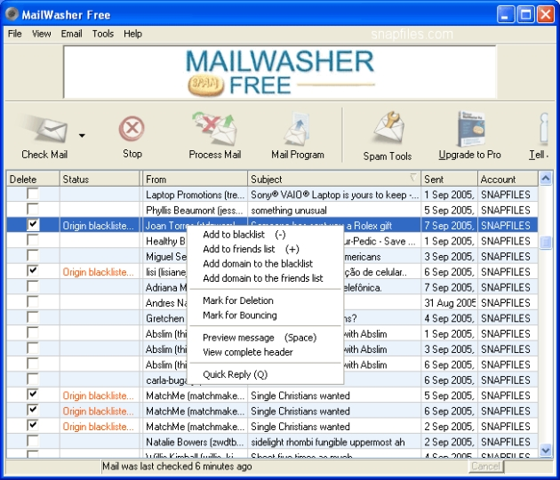 Download of the Day: MailWasher 6.51