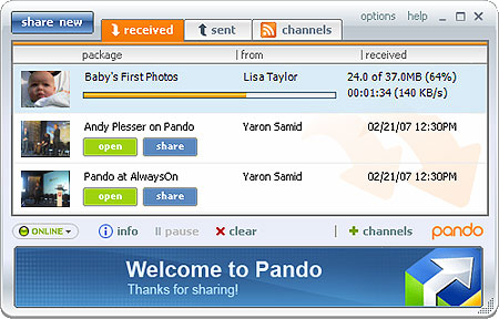 Download of the Day: Pando 2.3.0.11