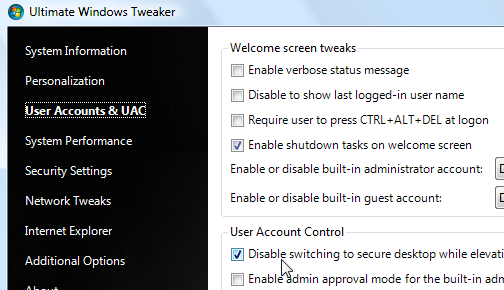 Download of the Day: Ultimate Windows Tweaker 1.1