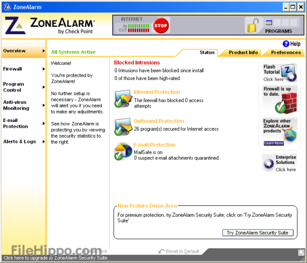 Download of the Day: ZoneAlarm Free 8.0.298.0