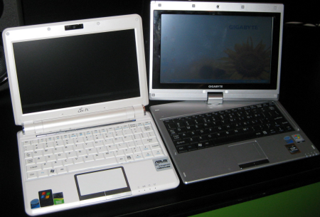 Up close with Gigabyte's M912V netbook at NVISION