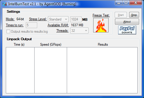 IntelBurnTest application makes it to version 2.1