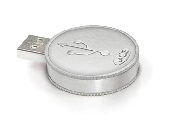 LaCie designs Currenkey USB Flash 'coins'