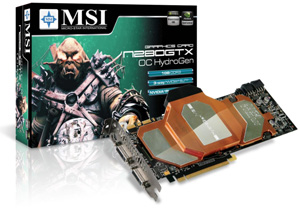 MSI out with fastest water-cooled GeForce GTX 280