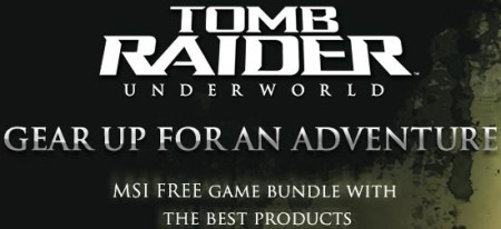 MSI now offering Tomb Raider: Underworld bundles