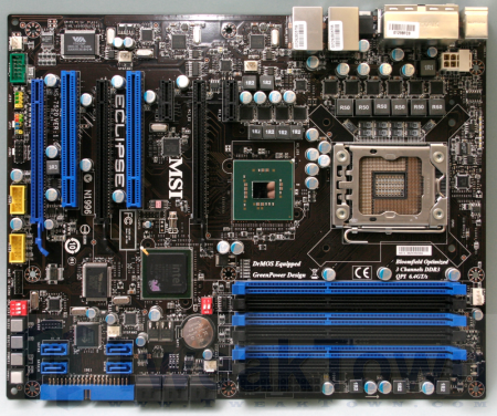 MSI next up showing us its X58 Eclipse mobo