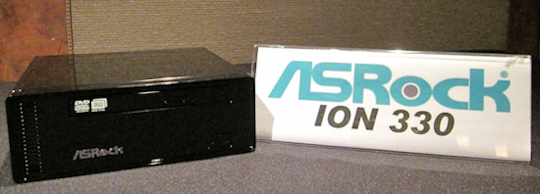 ASRock and Pegatron NV ION systems go on display